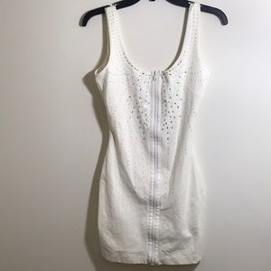 NWOT BEBE bedazzled dress with low back